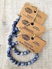 Bracelet With Blue Sodalite Stone Ladies, Mens, Unisex Gemstone Healing Power