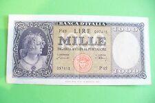 EXCEPTIONNEL ET RARE ANCIEN BILLET  1000 LIRE  15 MARS 1947  ITALIE  SPL !!