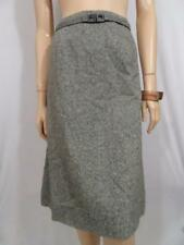 APART Grey Wool-Blend Skirt With Belt Sz 12