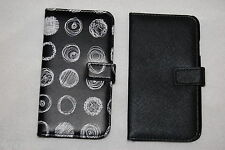 CELL PHONE WALLET CASE Samsung Galaxy S4 LOT Black & Abstract Circles