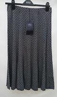 Marks & Spencer Size 8 Stretch Viscose Navy/White Pull On Skirt Bnwt 27L