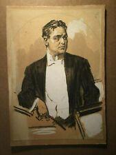 William E. Hill Rare Original Published Illustration Art NY Tribune 20s Among #5