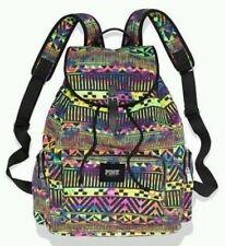 Victoria's Secret Pink RARE Rainbow Aztec Backpack Bookbag Back 2 School Bag