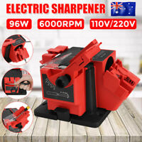 Electric Multi Function Tool Sharpener Drill Bit Knife Scissors 2xGrinding Wheel
