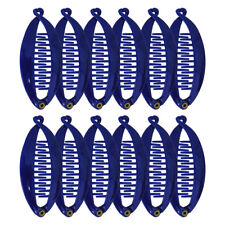 12 Mini Banana Combs Royal Blue 3.5 inch Girls Child Banana Clip Girls Clips