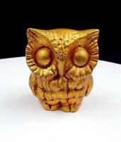 "FREEMAN & MCFARLIN POTTERIES OF CALIFORNIA GOLD 3"" OWL FIGURINE"