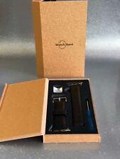 42mm Strap Band Genuine Leather Apple Watch Series 3 2 1 Wri (Black)