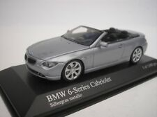 BMW 6 series Convertible 2006 gris plata metálico 1/43 Minichamps 431026031