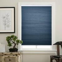 "Matinss Cellular Shades Cordless Window Blinds Honeycomb Shades Blue/Wht 31""x64"""