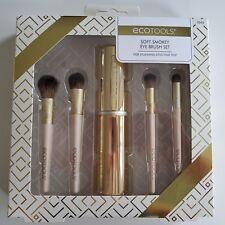 NEW EcoTools Soft Smokey Eye Brush Set Makeup Brushes with Brush Holder
