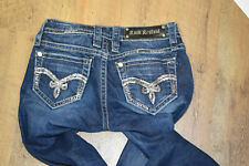 ROCK REVIVAL Kathy Skinny Dark Wash Embellished Jeans Sz 25