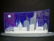 3D LED Arc Lumineux Verre acrylique Arches avec bois Leipzig panorama47x22cm