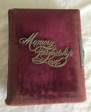 Antique Photo Album 1800s Family History Eells, Colby, Williams, Highbarger 80+