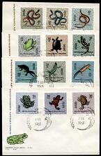Lurche, Schlangen, Schildkröte und andere Reptilien. 4FDC. Polen 1963