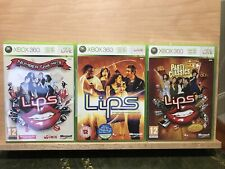 XBOX 360 Lèvres-Party Classics, Number One Hits, Lèvres - 3 jeux EXCELLENT