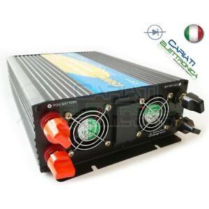 POWER INVERTER 1500W MAX 3000W WATT ONDA SINUSOIDALE PURA 12V DC 230V