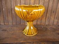 "VINTAGE McCoy Corinthian USA #2002 POTTERY Pedestal Bowl apx 8"" Flowers Vase"