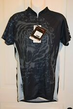 TABU PRIMAL WEAR woman's size XXL black and gray,short sleeve, NWT cycling top