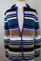 CALVIN KLEIN Womens Blazer Suit Jacket, Multicolored Unlined Rayon Size S NwT