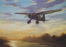 Westland Lysander SOE RAF Aircraft Plane Blank Birthday Fathers Day Card