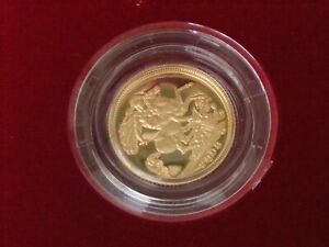 A 2003 GOLD PROOF HALF SOVEREIGN CASED AND ENCAPSULATED WITH ROYAL MINT PAPERS