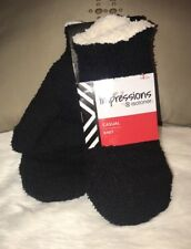 NWT ISOTONER WOMENS ONE SIZE IMPRESSIONS KNIT MITTENS Black New