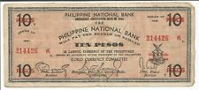 Philippines Currency money 1941 EMMERGYNCY CIRCULATING Note Iloilo Ten PESOS #13