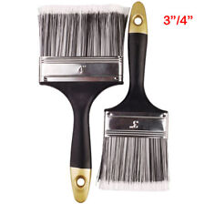 """3""""/4"""" Wide Set Of 2 Decorating Paint Brushes Wall Fence Varnish Gloss Shed"""