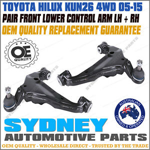 Front Lower Left Right Control Arms Ball Joints For TOYOTA HILUX KUN GGN TGN 4WD
