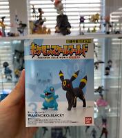 BANDAI Pokemon Scale World 1/20 Johto NEW Totodile Umbreon Ships From USA!