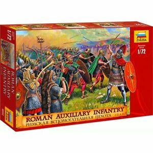 Zvezda 8052 Roman Auxiliary Infantry I-II A.D. (45 figures, 12 poses) 1/72