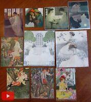 Childhood innocence Female beauty Art Nouveau lot x 10 color prints
