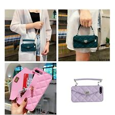 For iPhone X XS MAX 7 8 Handbag Crossbody Chain Wallet Strap Card Case Cover