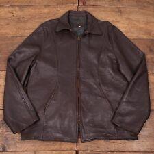 "Vintage 1960's Talon Zip Dark Brown Leather Jacket Mens 42"" M R2989"