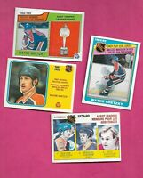 4 X 1980-81 TO 1984-85 OPC  OILERS WAYNE GRETZKY LEADERS CARD  (INV# D5848)