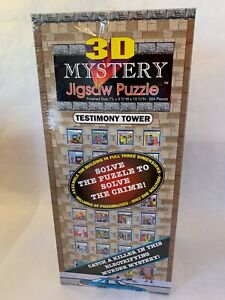 3D Mystery Jigsaw Puzzle Testimony Tower True Crime Buffalo Games 504 Pieces