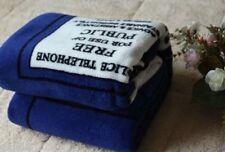 Nice Doctor Who Dr TARDIS Police Box Throw Blanket Xmas Gift Coral Velvet Carpe