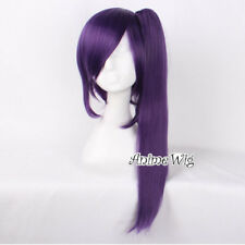 Anime For GINTAMA Terakado Tsu Purple Halloween Cosplay Wig+Cap With Ponytail