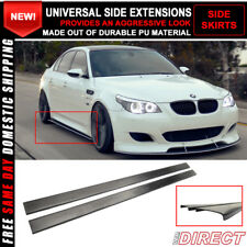 For Universal Side Skirt Extensions Rocker Panel Splitters Polyurethane PU