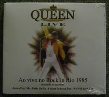 QUEEN LIVE ROCK IN RIO 1985 CD MADE IN BRAZIL LOVE OF MY LIFE RADIO GA GA ####