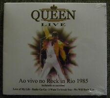 QUEEN LIVE ROCK IN RIO 1985 CD MADE IN BRAZIL LOVE OF MY LIFE RADIO GA GA LIAR