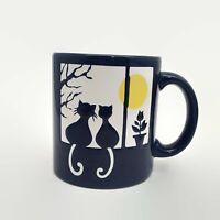 Waechtersbach Two Cats Sitting On Window Sill Blue Coffee Mug Chip on Handle