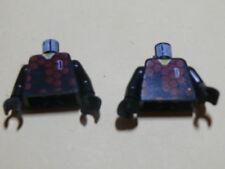 Lego 2 torses noir / 2 black torsos from minifig set 3420 3422 3421 3425