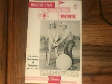 Desert Inn Country Club Golf News Magazine Shirley Jones Doug Sanders 4/22/1961