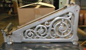 Antique Industrial Cast Iron Fancy open fretwork paper tape dispenser 23 lbs