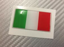 Adesivo Bandiera 3D Resinata ITALIA 45 x 25 mm.
