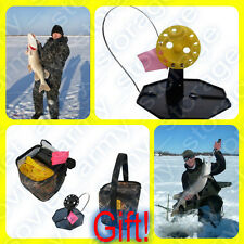 Tip Up 20 pcs Ice Fishing! +Gift! For successful fishing predatory fish! Tested!