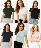 M&S Marks Spencer Ladies Women ROUND Neck Short Sleeve T Shirt Blouse Top 8-24