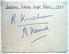 Krishnan & Kumar INDIANA di Coppa Davis 1955 Tennis AUTOGRAFI