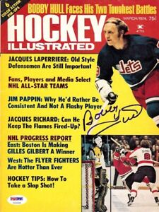 Bobby Hull Autographed Signed Hockey Illustrated Cover Jets PSA/DNA U93650